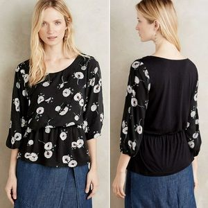 Anthropologie Deletta Wished Bloom Dandelion Top